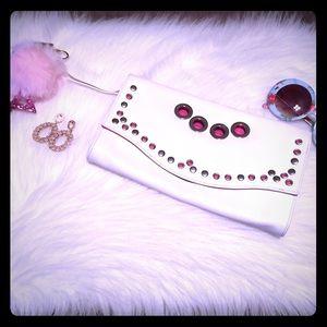 Hot Pink/White H&M Clutch